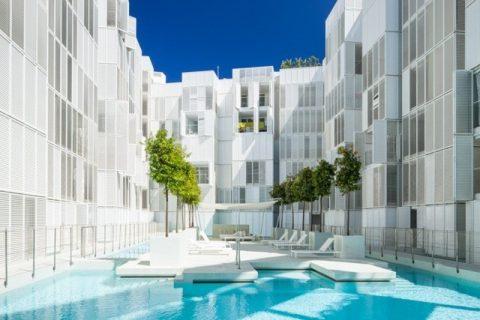 majoitus loma asunto kaupunki ranta allas aurinko Ibiza Espanja